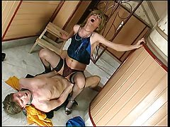 Sex-addicted sissy guy getting his eager fuckhole filled with beefy meat