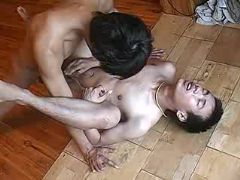 Asian twink gets his tight ass licked and dicked