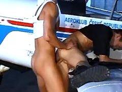 Gay pilots having anal fun by plane