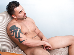 Sexually attracted Latino guy jerks his immense weenie till her cums heavy