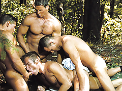 4 Deputies Are Launching Logan's Tight Mouth And Round Ass.
