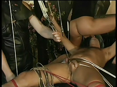 Gay leather and bondage fuck fest in 2 motion picture