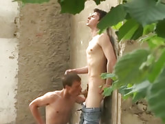 Extreme young gay twinks fucking hard outdoors in 2 movie