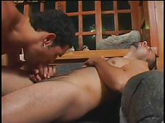 Husky gay men smoking in hotel in 2 episode