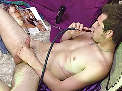 Chilling Out And Caning His Meat - Wyatt Blaze