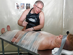 Taped Down Gay Drained Of Cock juice - Alex Silvers And Sebatian Kane