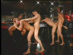 Man-lover club drinking party crooks attracted to immense jock fuckfest in 4 clip scene