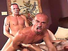 Lusty mature gay fucks tight males hole
