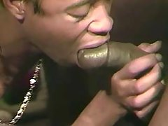 Gay stuffs cock in tight black hole