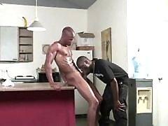 Steamy gangsta gays drilling butts