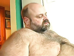 Bear mature gay enjoys oral sex