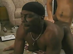 Black gay gets penetration in doggy style