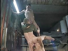 Teenage gays enjoy oral sex in orgy