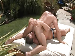 Nasty muscle gays suck in 69 pose outdoor