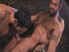 Hairy Arabian gays throat cocks in pyramid