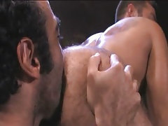 Bear Arabian gay licks hairy males ass