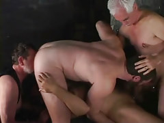 Two old gays have fun with amateur men