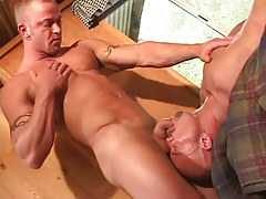 Gay stud sucked by lusty mature gay